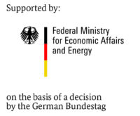 Funding logo for research projects of the Federal Ministry for Economic Affairs and Energy